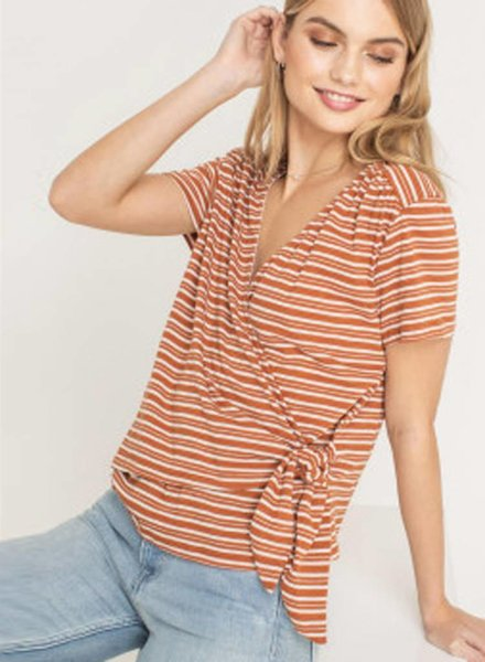 LUSH Knit Wrap Top (T14548)