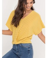 LUSH Dolman Sleeve Draped Top (T14753)