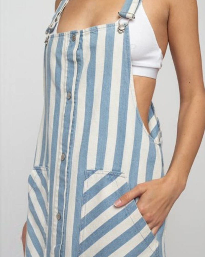 Signature 8 Multi Stripe Print Overall Skirt (S3201A)