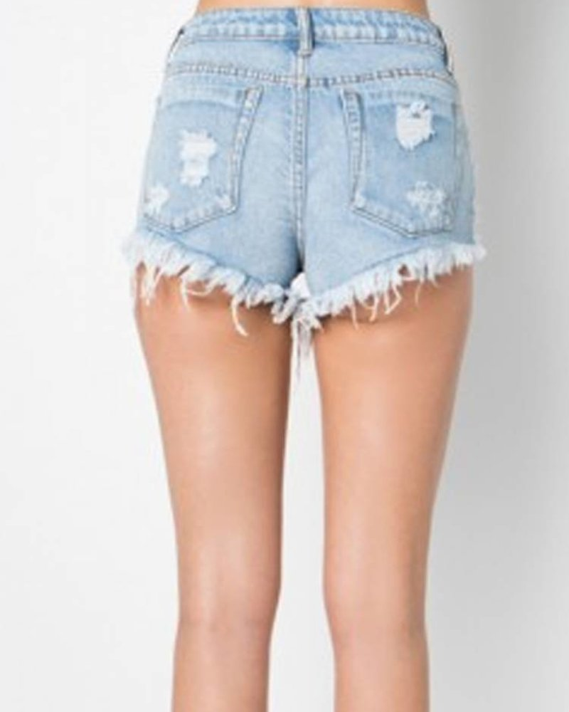 Signature 8 Distressed Denim Shorts (S8210)