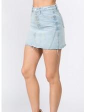 Signature 8 Button Front Denim Skirt (S7351)