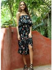 Angie Strapless Midi Dress (B4Z76)