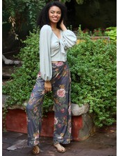 Angie Printed Wide Leg Pants (B3346)