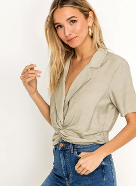LUSH Collard Twist Front Top (LT13832-CI)