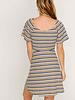 LUSH Flutter Sleeve Buttoned Play Dress (DR95803)