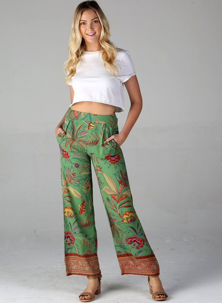 Angie Floral Print Pant (B3330)