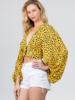 Signature 8 Long Sleeve Cheetah Printed Top (S1744)
