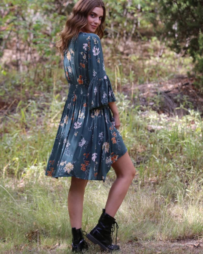 Angie Long Kimono Button Front (BJ589)