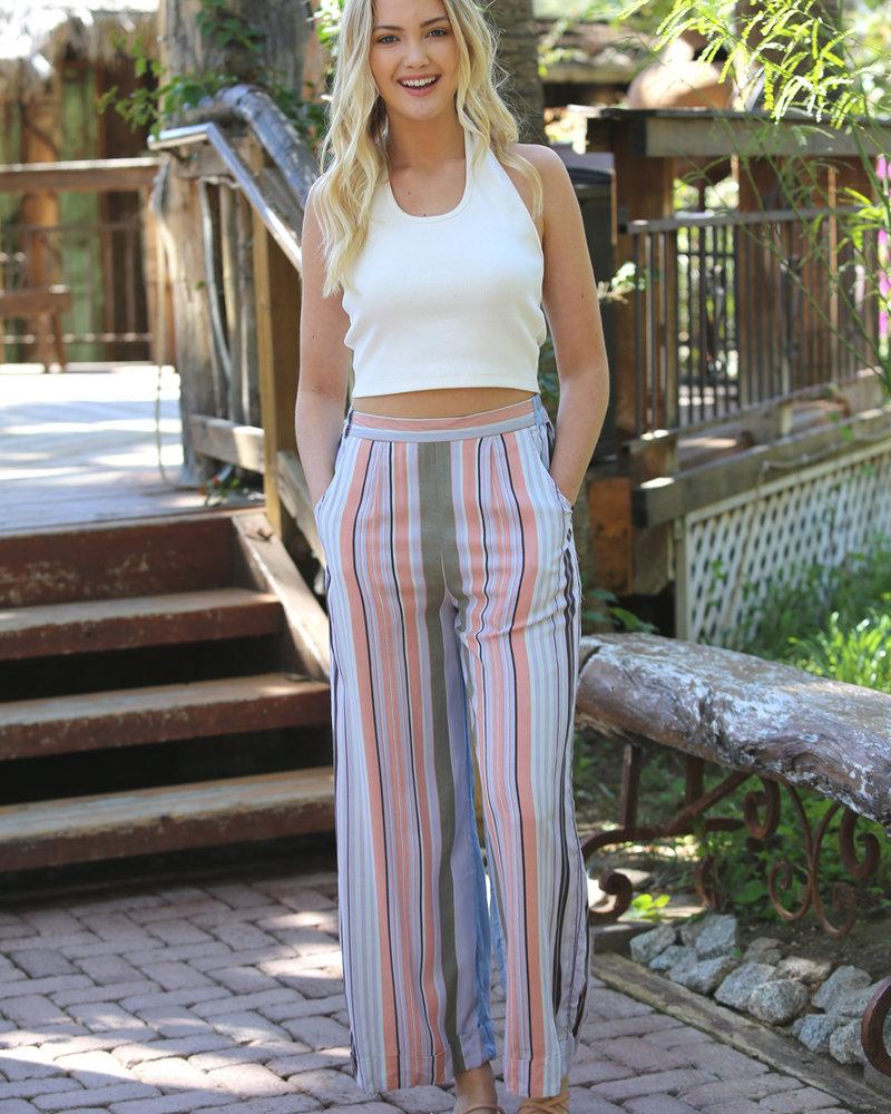 Angie Striped Wide Leg Cuff (B3289)