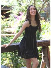 Angie Lurex Smocked Dress (F4B13)