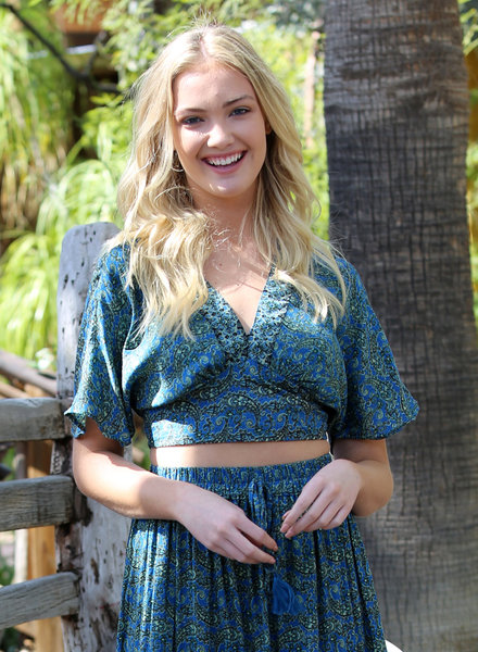 Angie Deep V-Neck Kimono Sleeve Top (F2058)