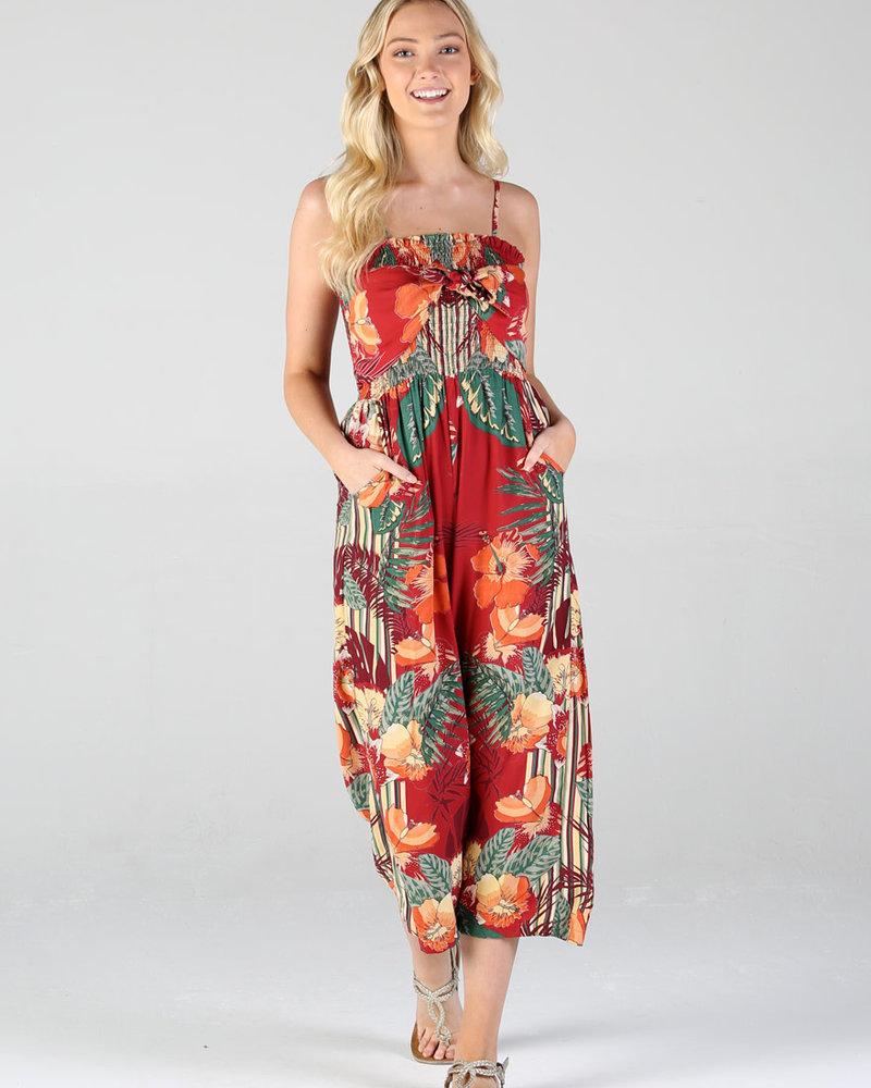 Angie Tie Front Jumpsuit (Q5V11)