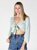Angie Knit Tie Front Crop Top (X2W55)