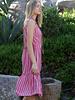 Angie Striped Flowy Sundress With Ruffles (B4AA9)
