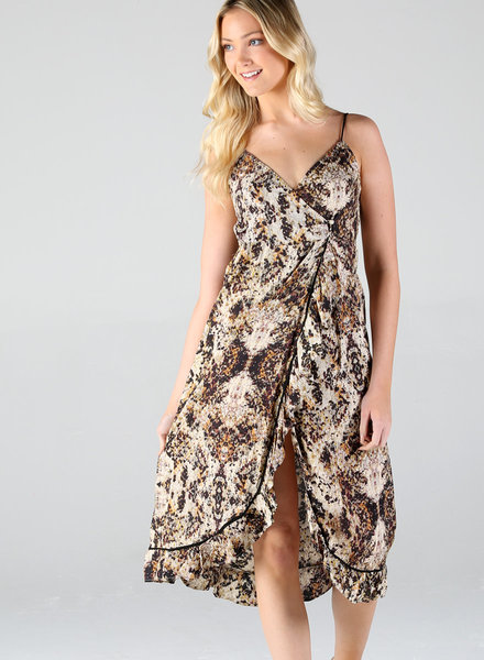Angie Maxi Dress Print Wrap (B4MM3)