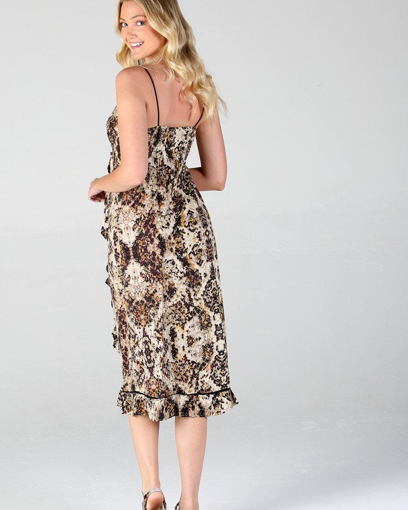 Angie Maxi Dress Print  Wrap (B4MM3)