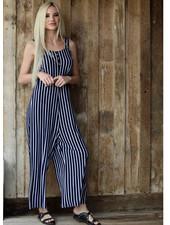 Angie Button Front Wide Leg Jumpsuit (X5135)