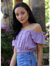 Angie Off The Shoulder Crop Top (P2W34)