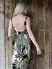 Angie Deep V Ring Maxi Dress (F4B35)