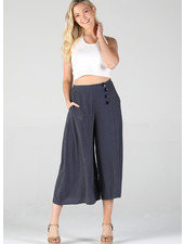 Angie Button Front Wide Leg Pant (25Q19)