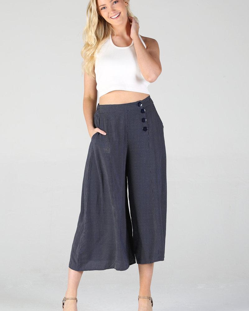 Angie Button Front Wide Leg Pant (25Q19)