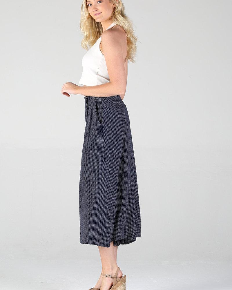 Button Front Wide Leg Pant (25Q19)