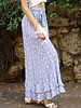 Angie Woven Stripes All-Over Eyelet Embriodered Maxi Skirt (26N07)