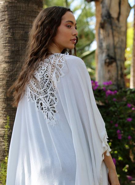 Angie Crochet Back Kimono (P2Z90)