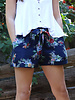 Angie Woven Floral Shorts (BS743)