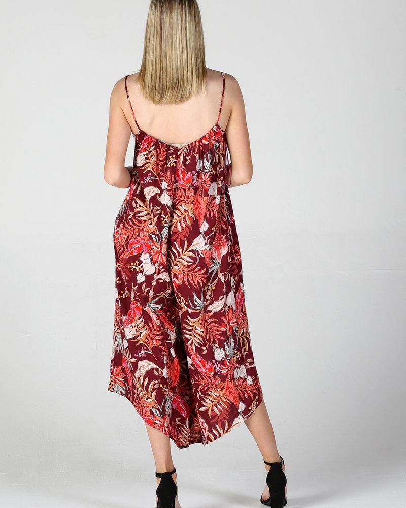 Angie Floral Gaucho  Jumpsuit (Q5S53)