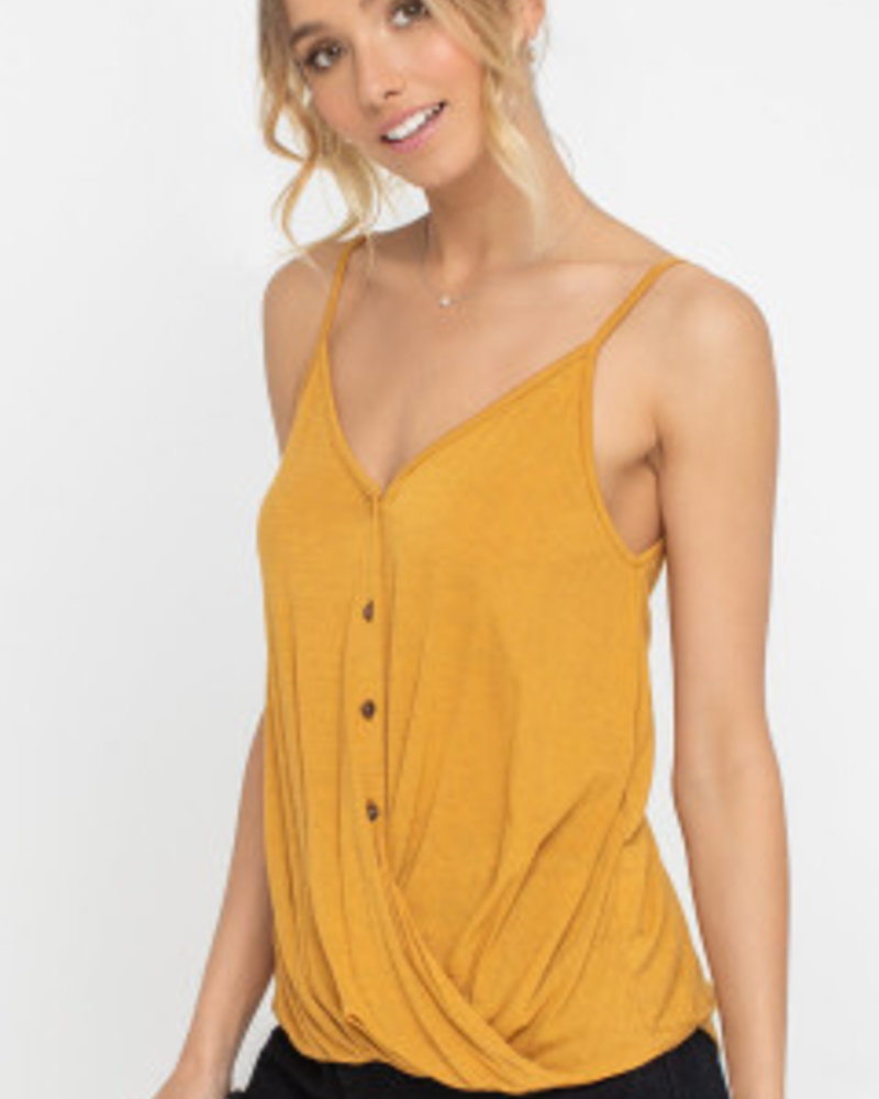 Lush Buttoned and Draped Tank (T14696C)