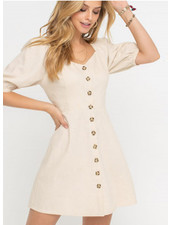 Lush Buttoned Sweetheart Dress (DR95767C-I)