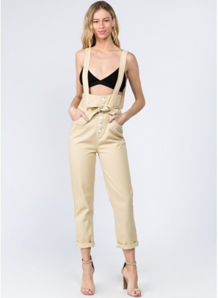 Signature 8 Tie Waist High Rise Overalls (S9135)