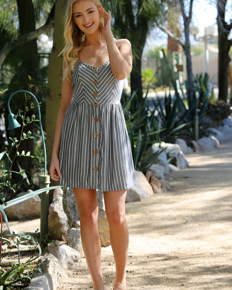 Angie Button Front Dress (F4A63)