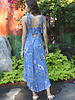 Angie Tie Strap Lurex Thread Smocked Waist Maxi Dress (F4B00)