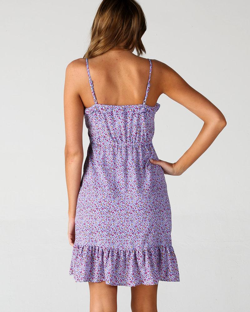 Angie Spaghetti Strap Button Down Dress (B4PP3)