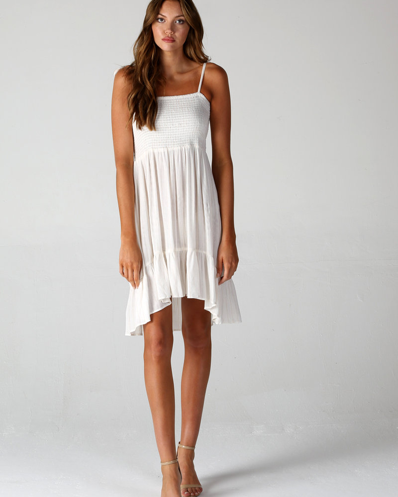 Angie Smocked High Low Dress (F4B65)
