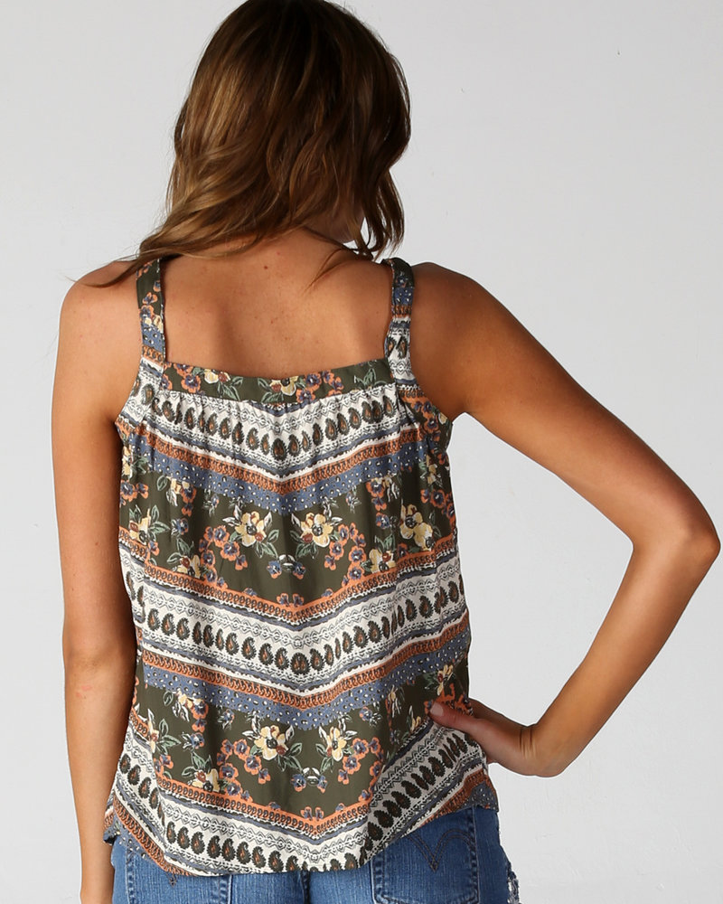 Angie Sleeveless Button Front Tank (F2201)