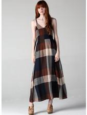 Angie V Neck Spaghetti Strap Dress Wit Smocked Sides (F4B70)