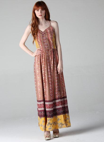 Angie Smocked Bodice Maxi Dress (F4A86)