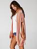 Angie Lurex Stripe Fringe Hem Kimono (F2159)