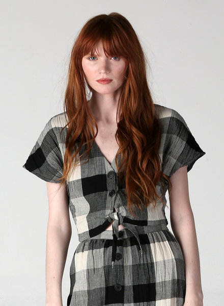 Angie Plaid Top (F2150)
