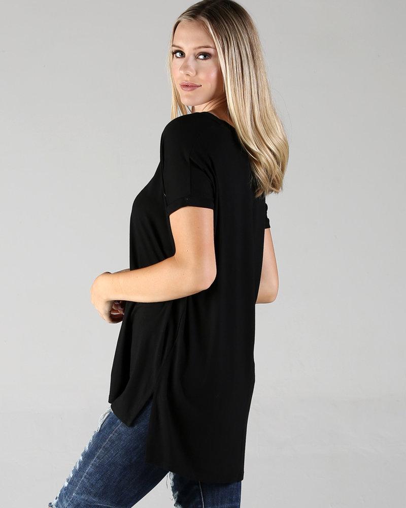 Angie V-Neck Over-Sized Knit Top (X2K05)