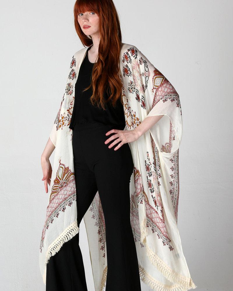 Angie Lace Trim Kimono (X2Y57)