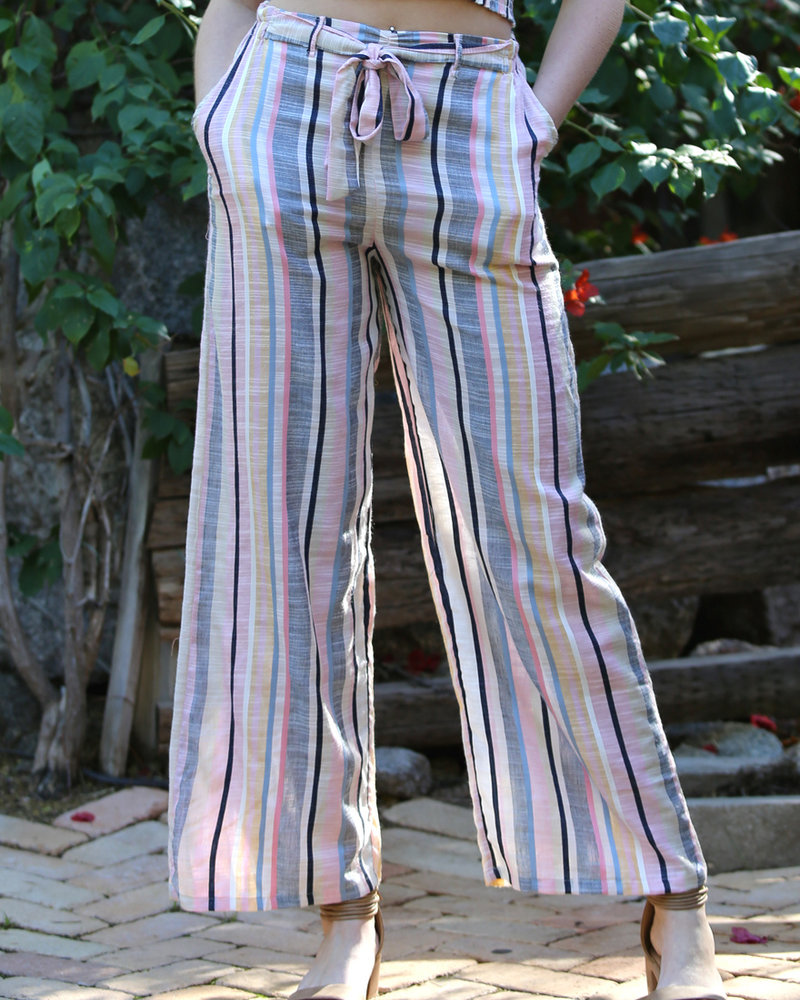 Angie Paper Waist Soft Pants With Tie (25Q39)