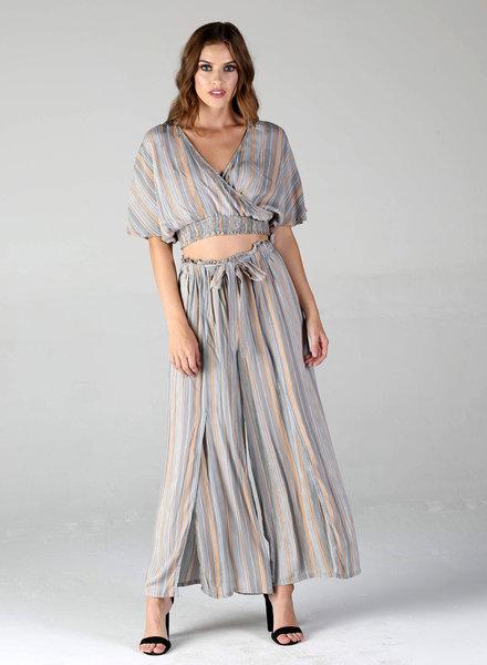 Denim Blue & Settle Stripes