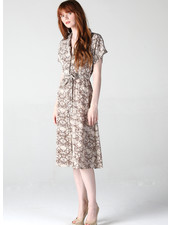 Angie Snakeskin Button Down Dress (B4KK9)