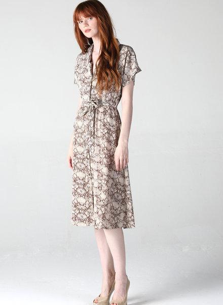 Angie Snakeskin Button Down Dress (B4KK9)