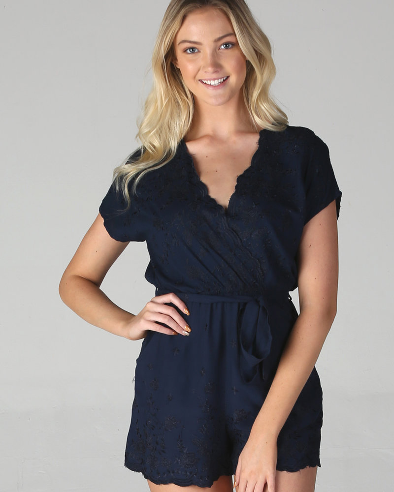 Angie Embroidered Romper (Q5T53)