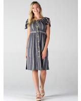 Angie Striped Midi Dress (F4A67)